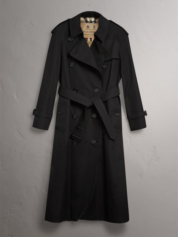The Westminster – Extra-long Trench Coat in Black - Women   Burberry United States - cell image 3