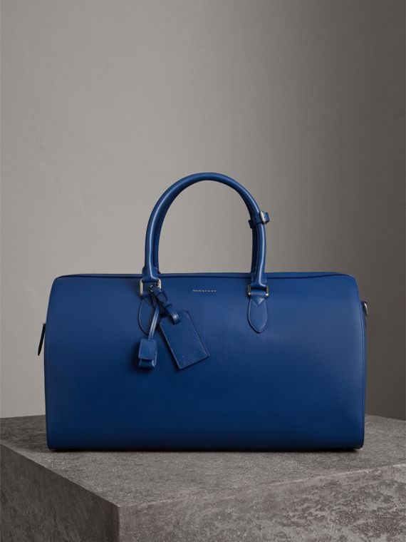 London Leather Holdall in Deep Blue