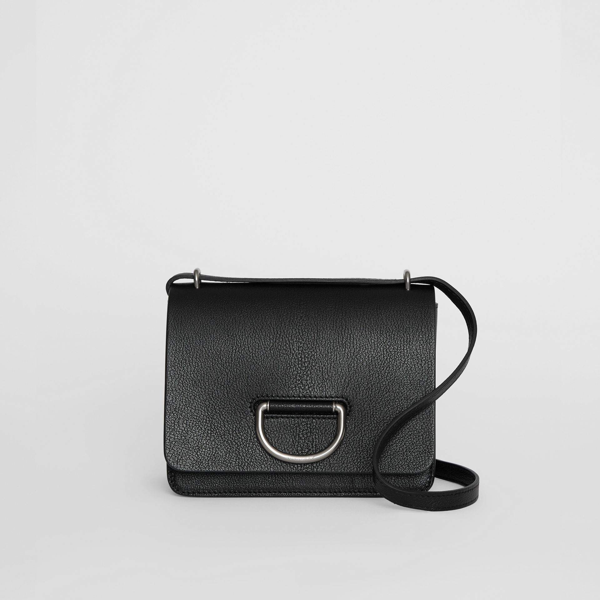 The Small Leather D-ring Bag in Black - Women | Burberry Hong Kong - gallery image 0
