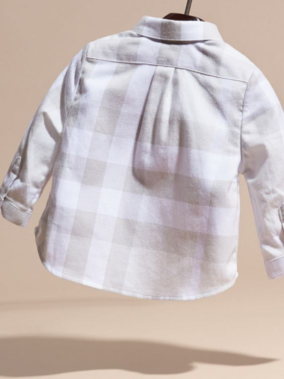 Washed Check Cotton Flannel Shirt - cell image 3