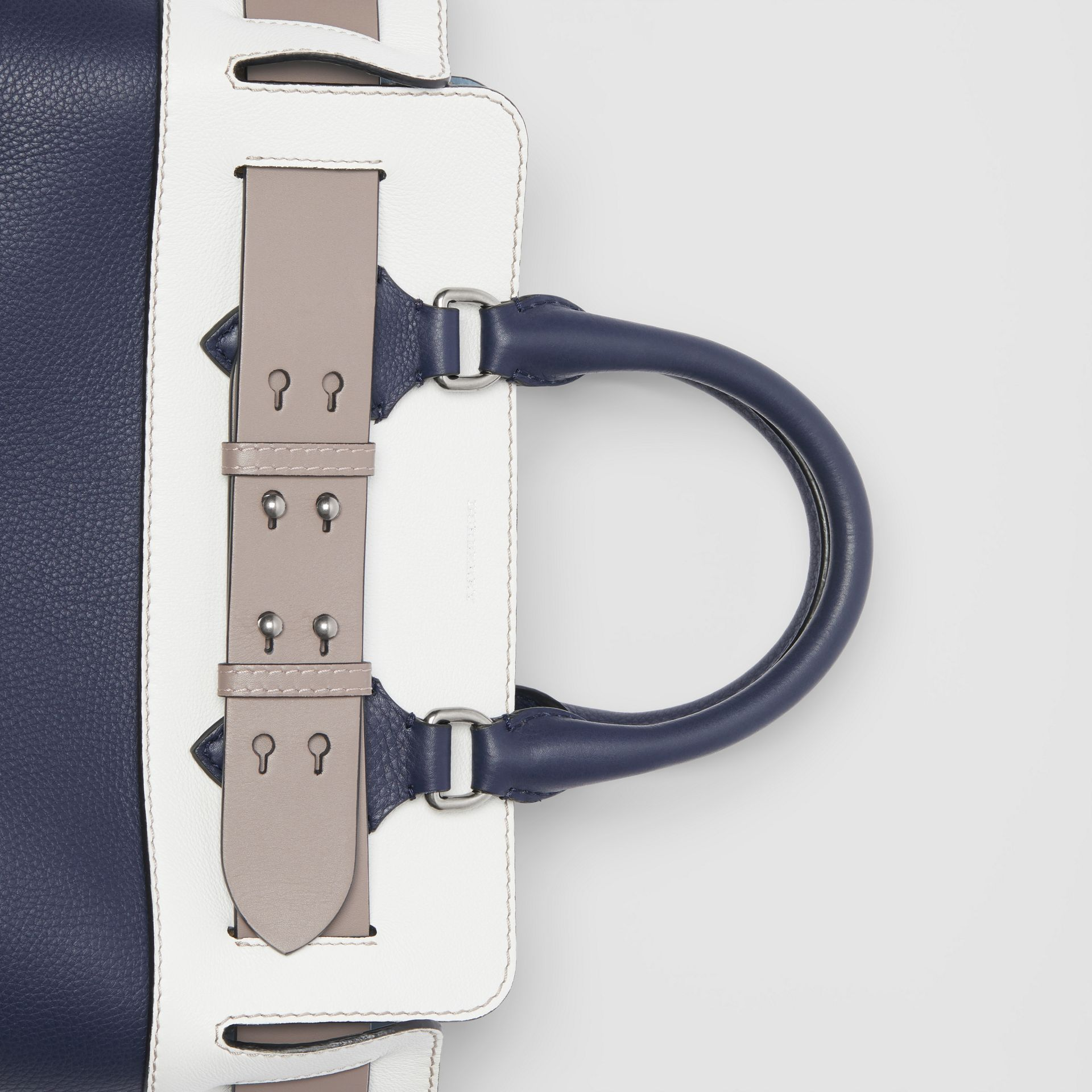 The Small Quadri-tone Leather Belt Bag in Regency Blue/chalk White - Women | Burberry - gallery image 1