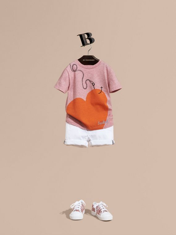 Check Detail Cotton Chino Shorts - Girl | Burberry