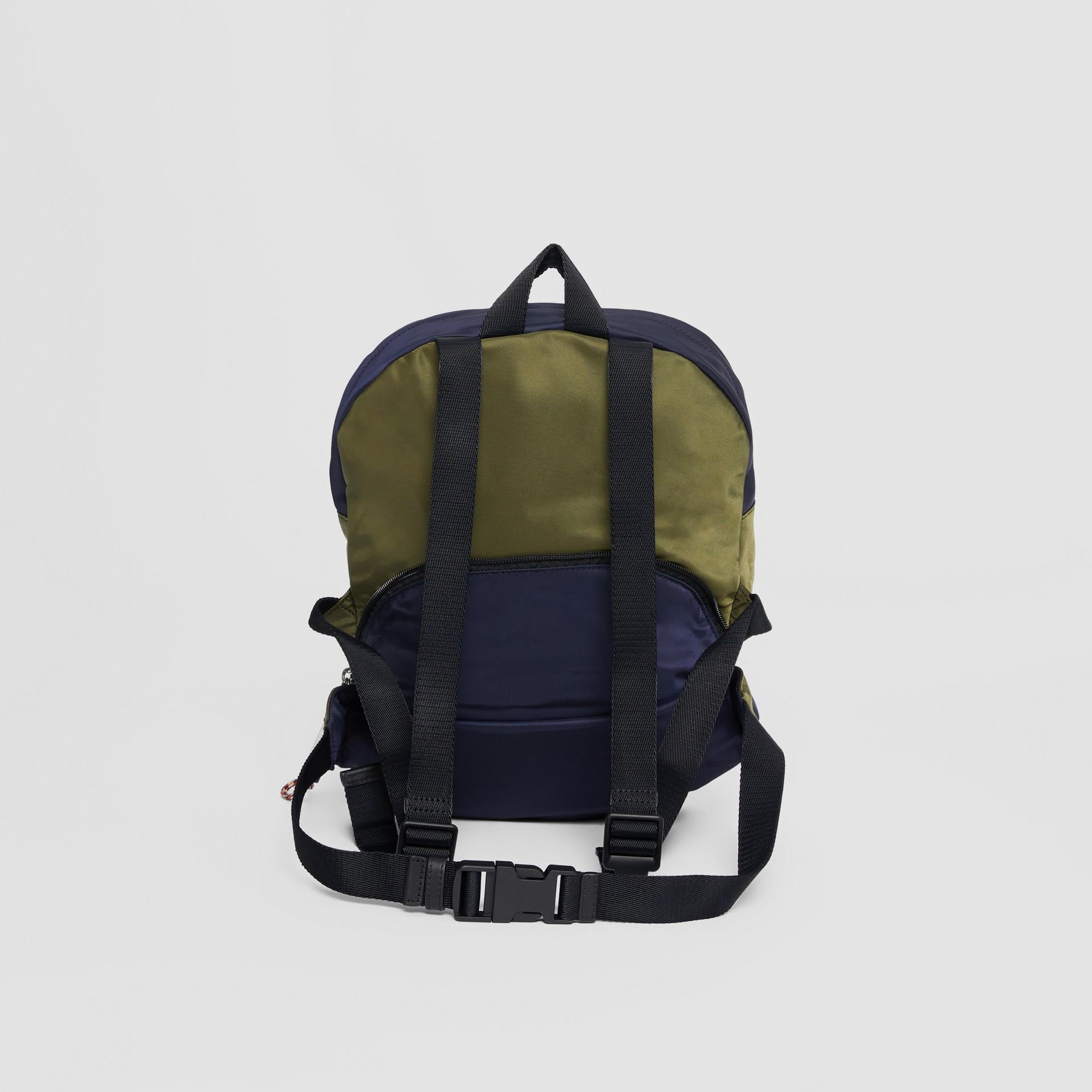 Двухцветная сумка-трансформер с логотипом (Регентский Синий) - Для детей | Burberry - изображение 5