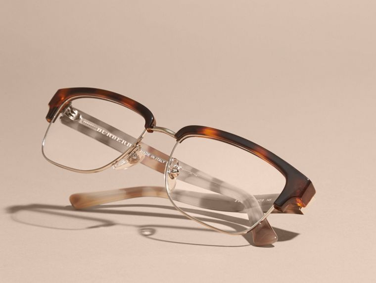 Light russet brown Half-rimmed Oval Optical Frames Light Russet Brown - cell image 4