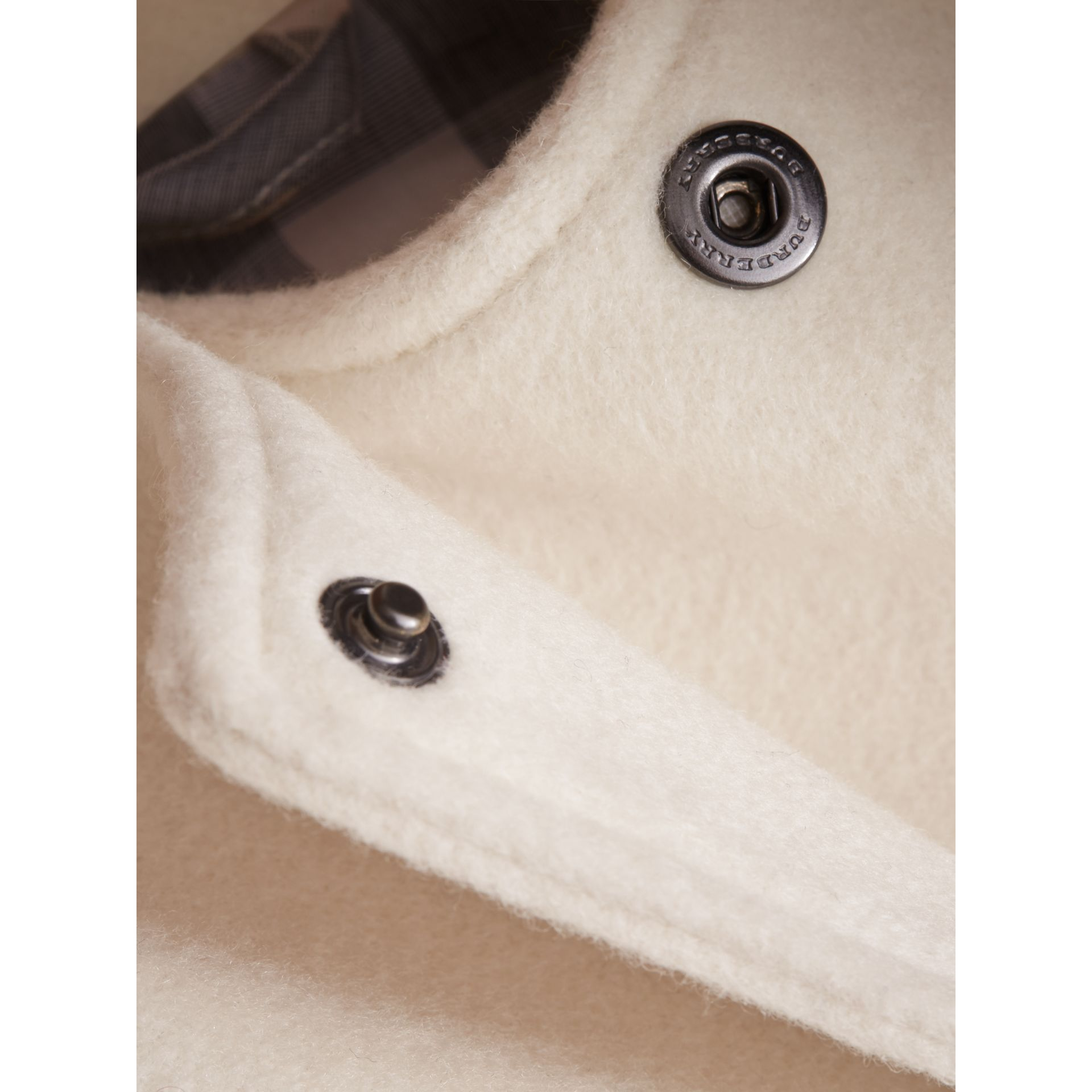 Collarless Cotton Cashmere Jacket - gallery image 2