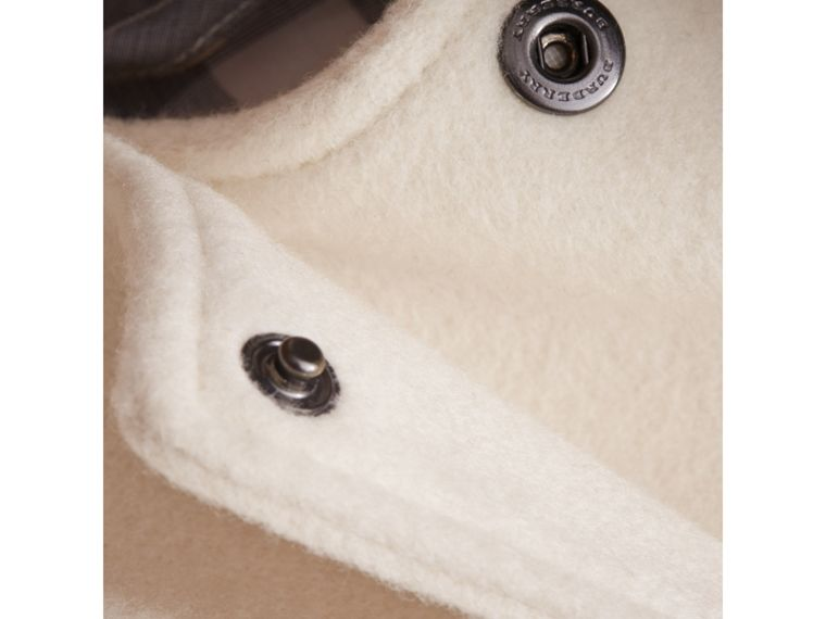 Collarless Cotton Cashmere Jacket in White | Burberry - cell image 1