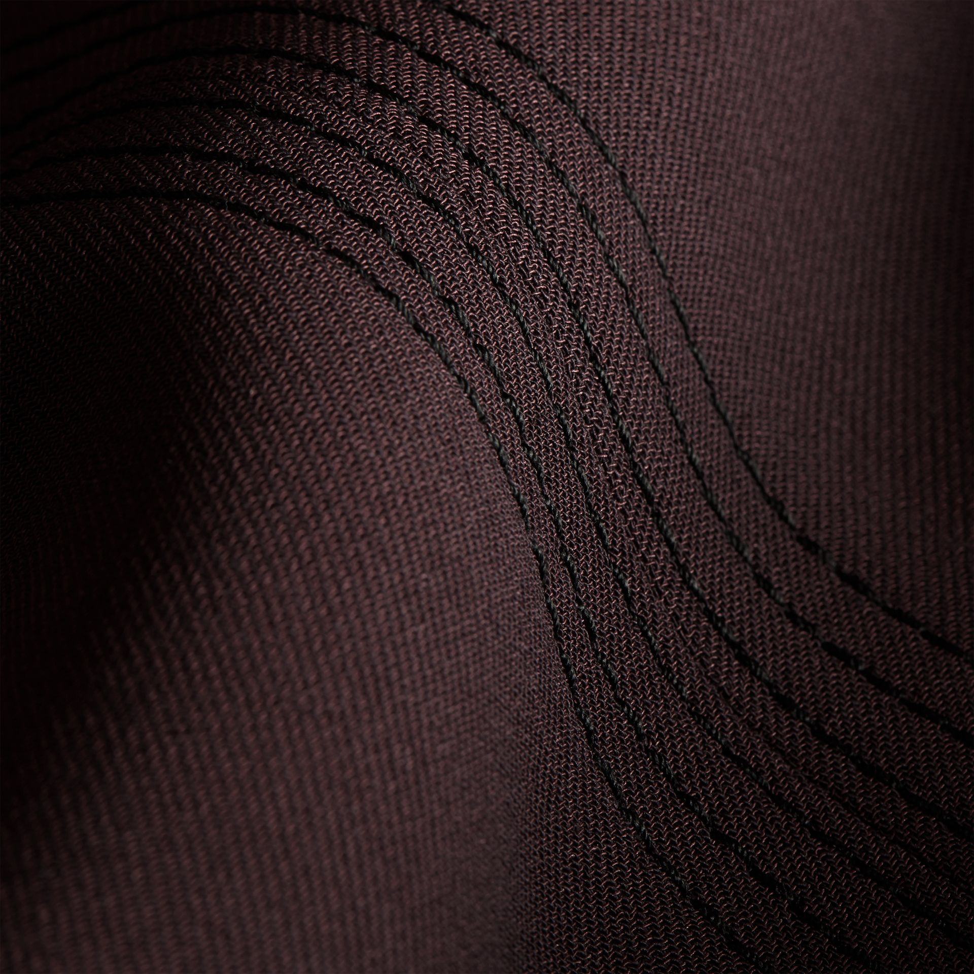Dark elderberry Wool Silk Straight Leg Trousers Dark Elderberry - gallery image 2