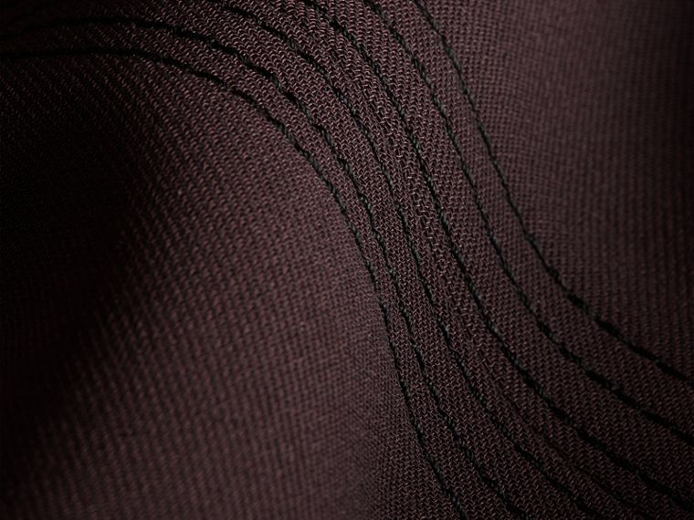 Dark elderberry Wool Silk Straight Leg Trousers Dark Elderberry - cell image 1