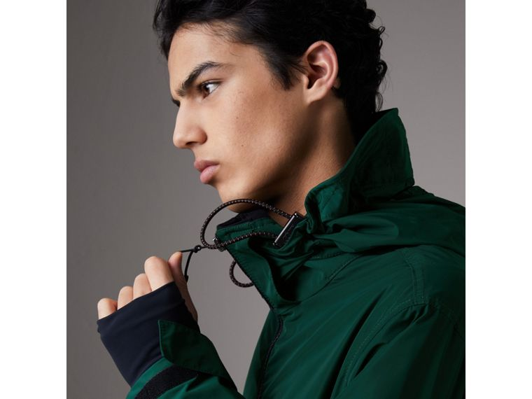 Packaway Hood Shape-memory Taffeta Jacket in Racing Green - Men | Burberry Canada - cell image 1