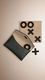 Leather Noughts and Crosses Set and Case