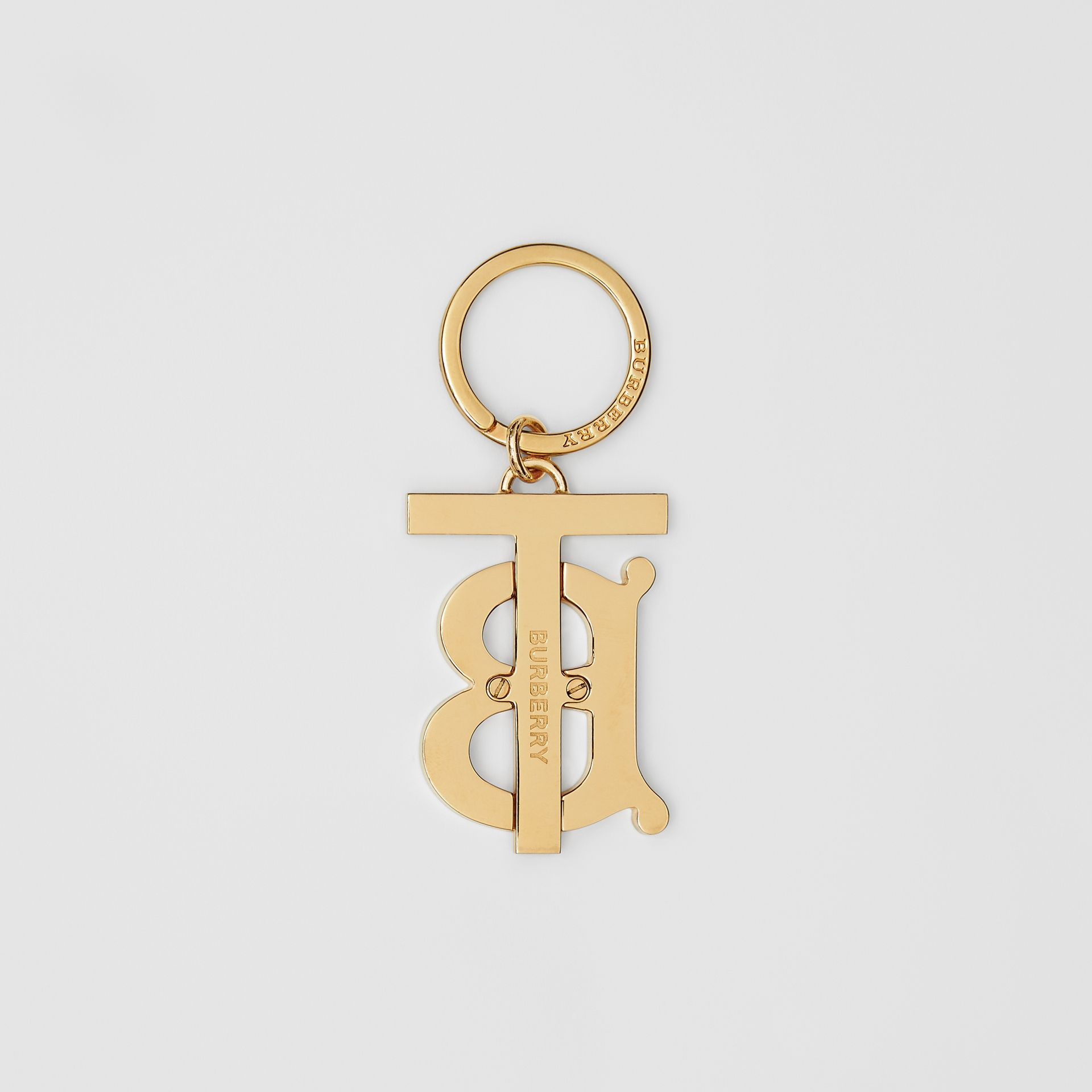 Monogram Motif Gold-plated Key Ring - Men | Burberry Hong Kong S.A.R - gallery image 2