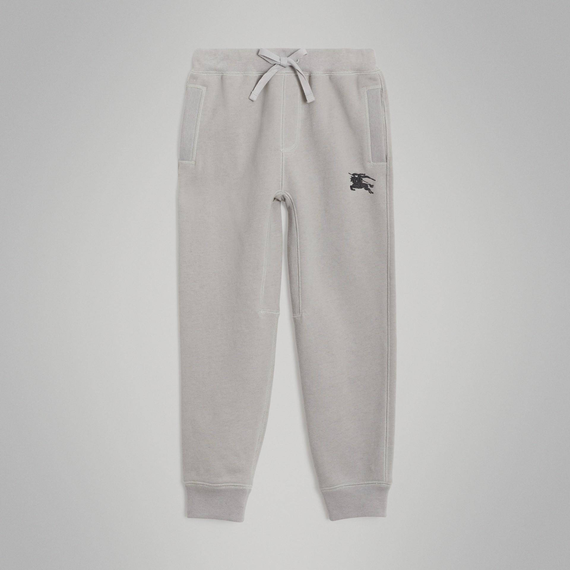Pantalon de survêtement en jersey de coton (Camaïeu  Gris Craie) | Burberry - photo de la galerie 0