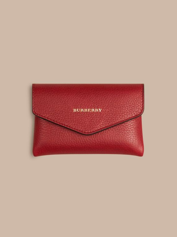 Grainy Leather Playing Card Case in Parade Red | Burberry - cell image 2