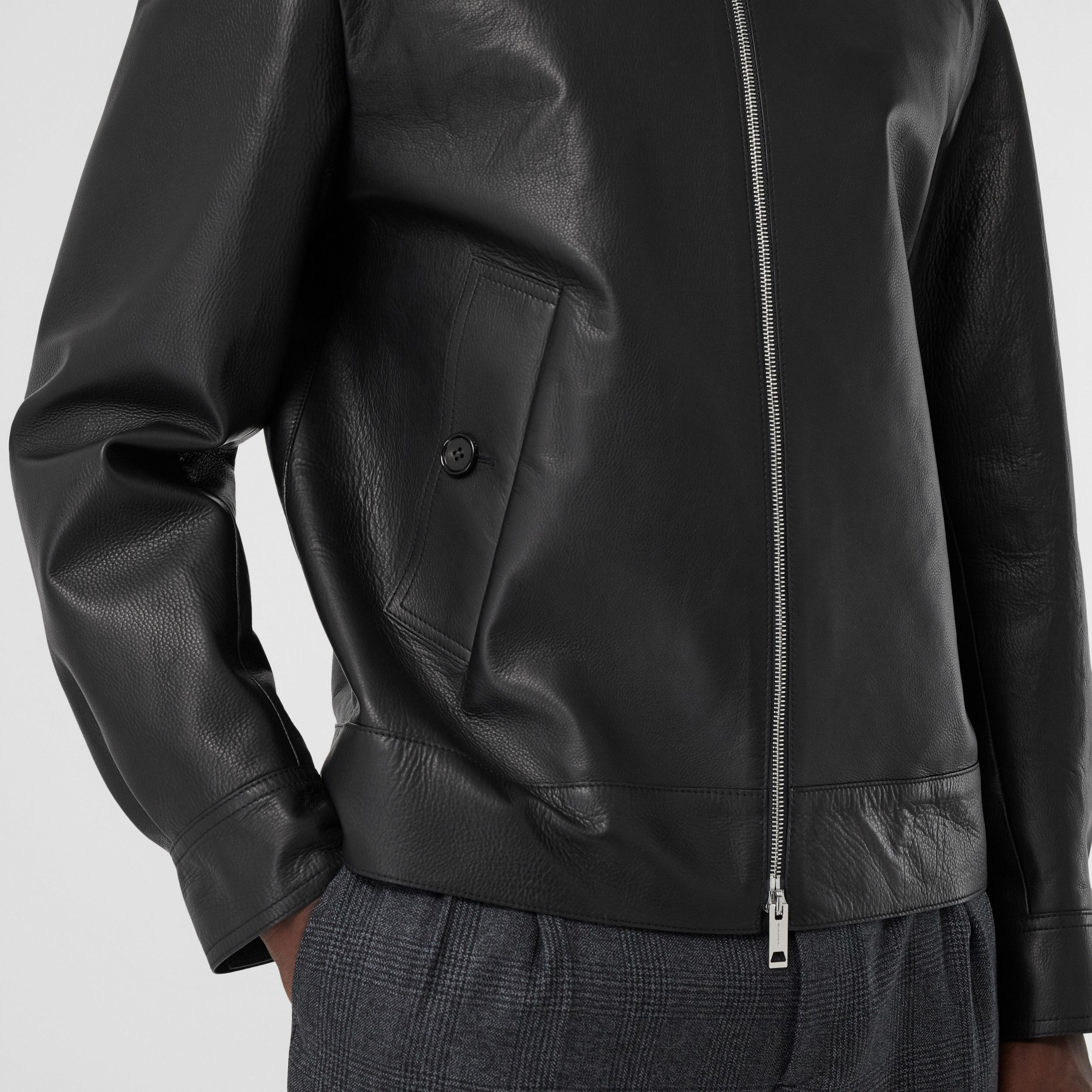 Leather Jacket in Black - Men | Burberry - 2