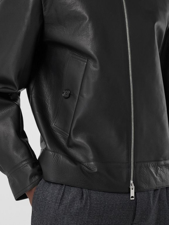 Leather Jacket in Black - Men | Burberry - cell image 1