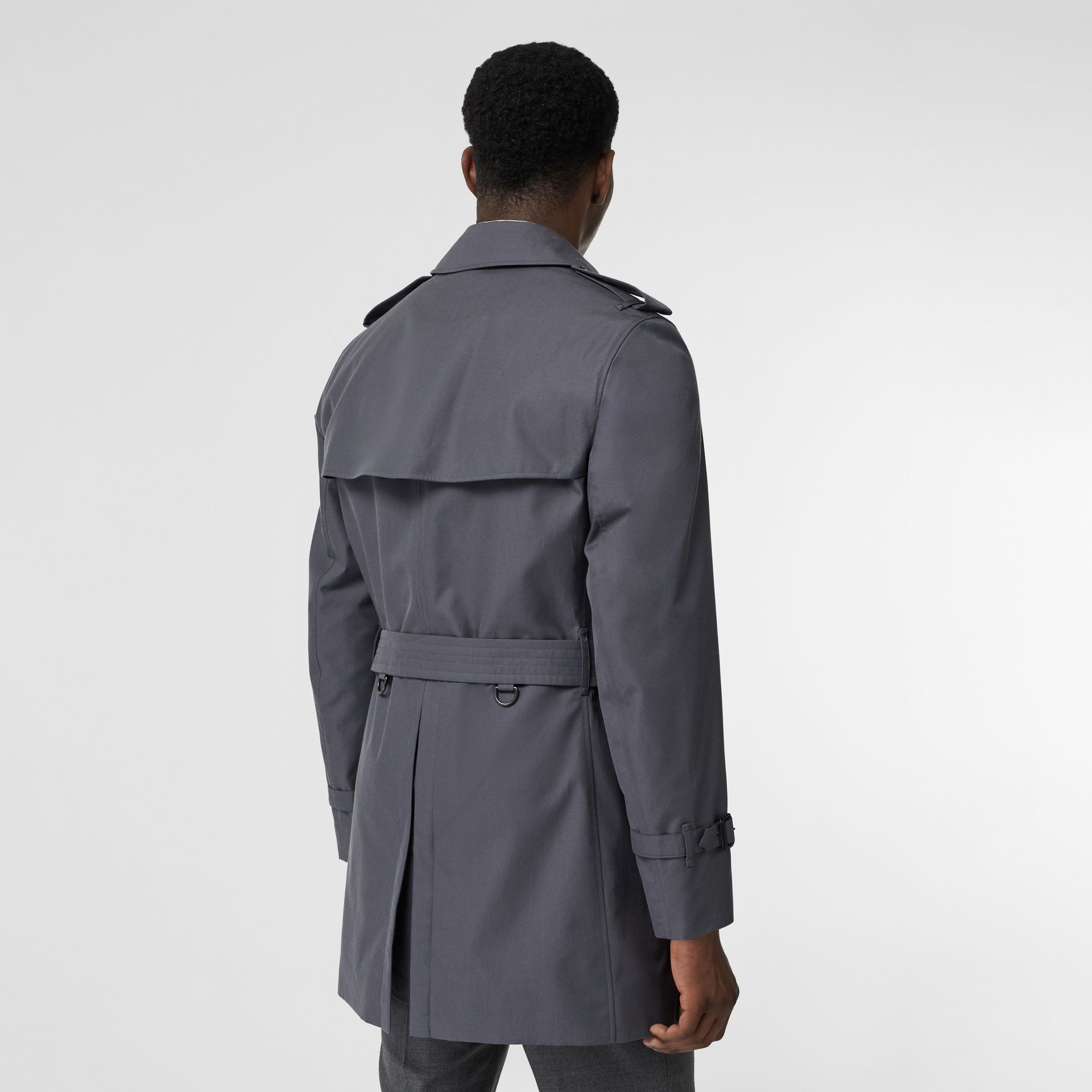 Short Chelsea Fit Trench Coat in Mid Grey - Men | Burberry Australia - gallery image 2