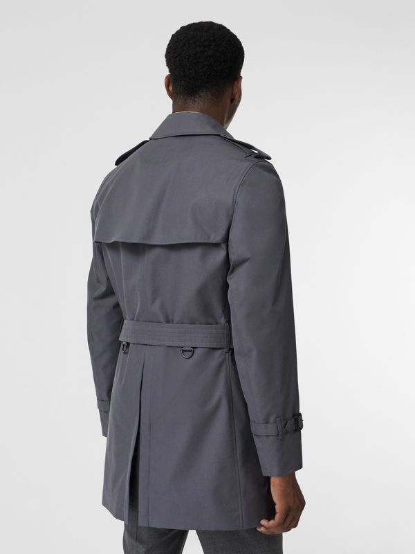 Short Chelsea Fit Trench Coat in Mid Grey - Men | Burberry - cell image 2
