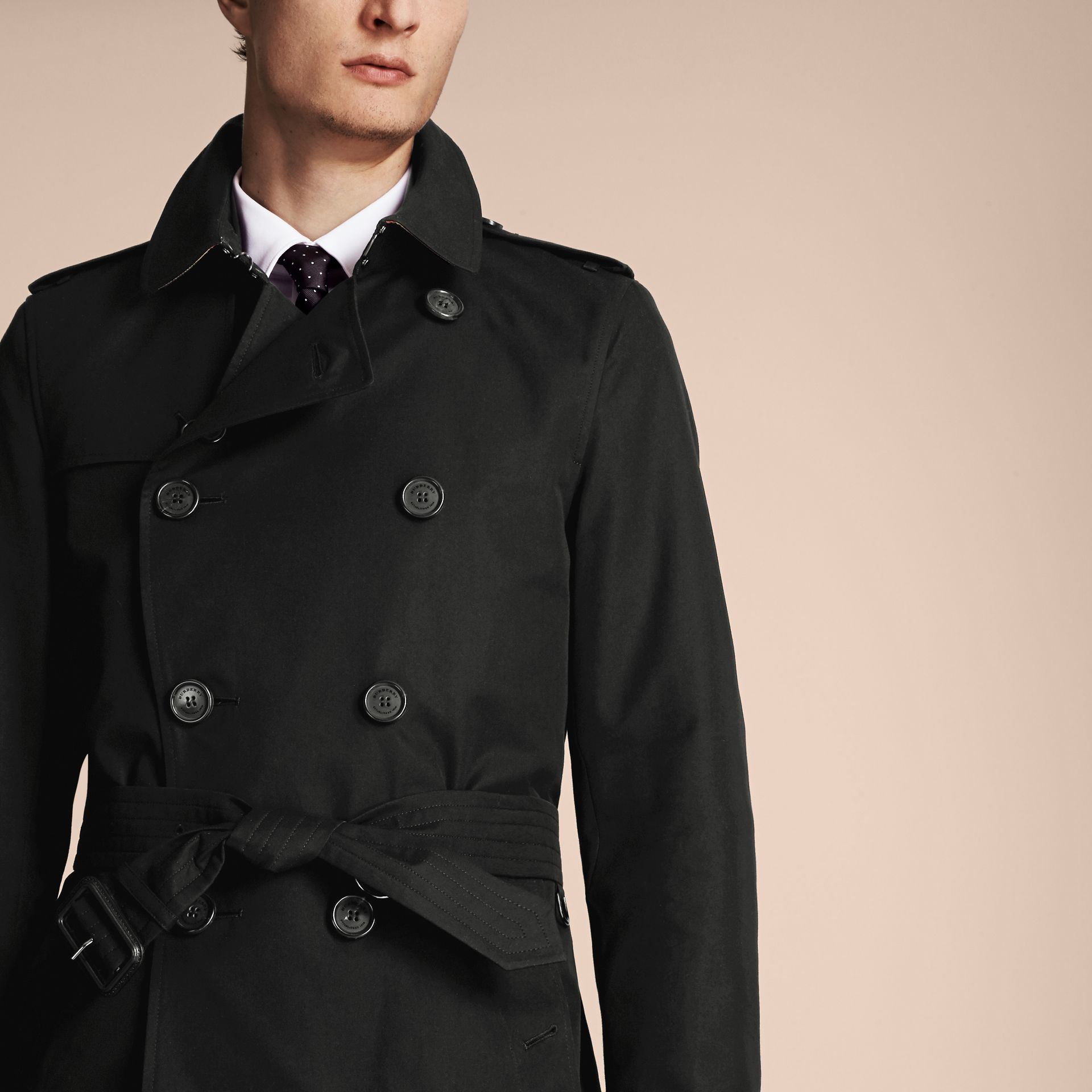 Black The Sandringham – Long Heritage Trench Coat Black - gallery image 6