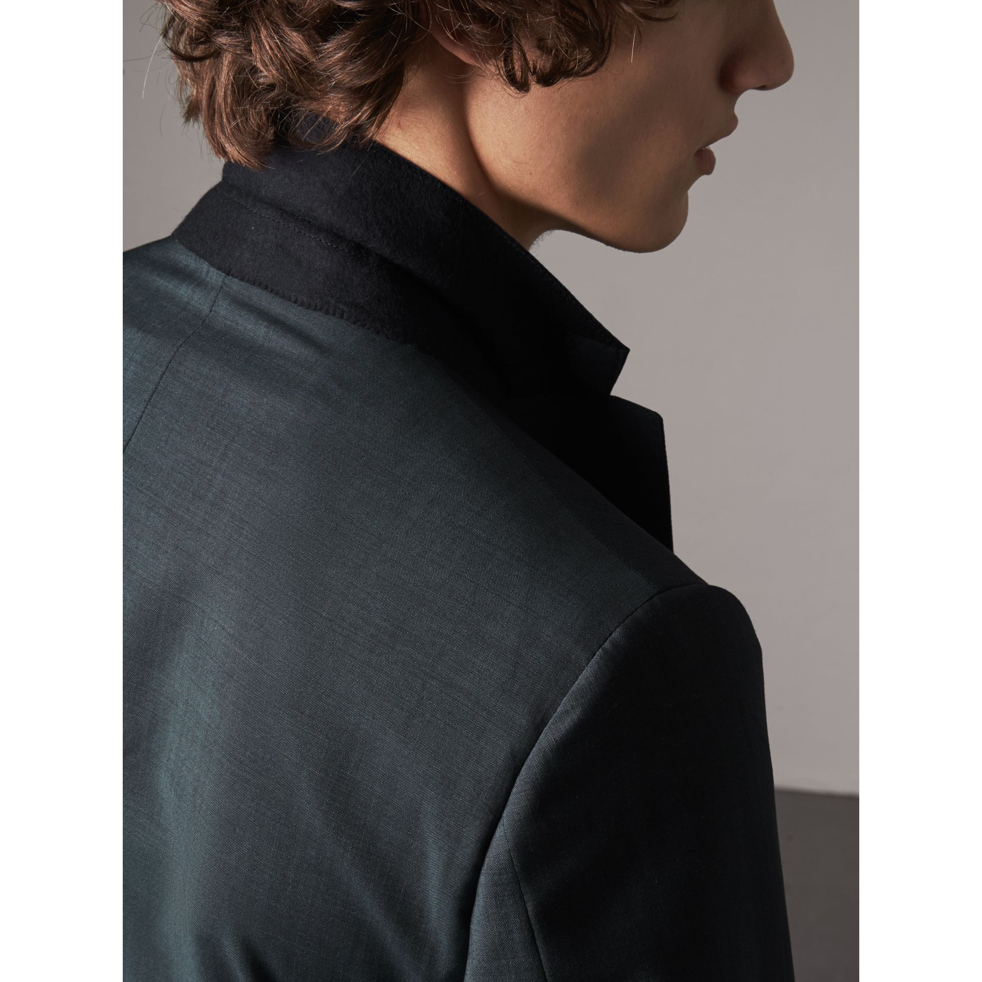 Soho Fit Wool Mohair Suit in Petrol Blue - Men | Burberry - gallery image 9