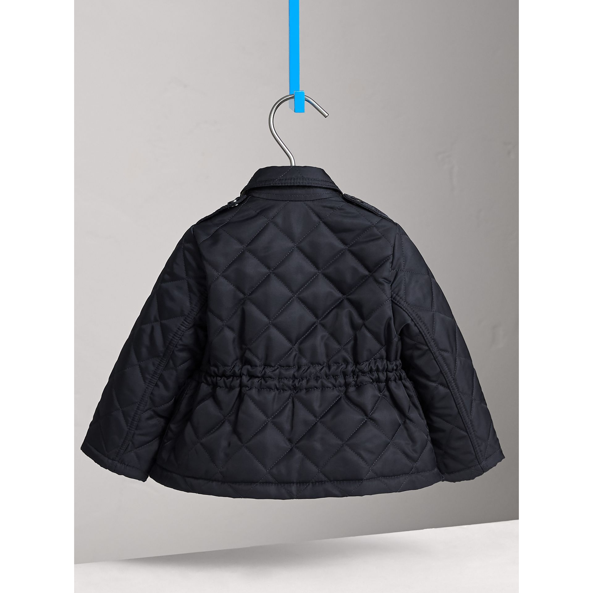 Quilted Jacket in Navy | Burberry Australia - gallery image 4