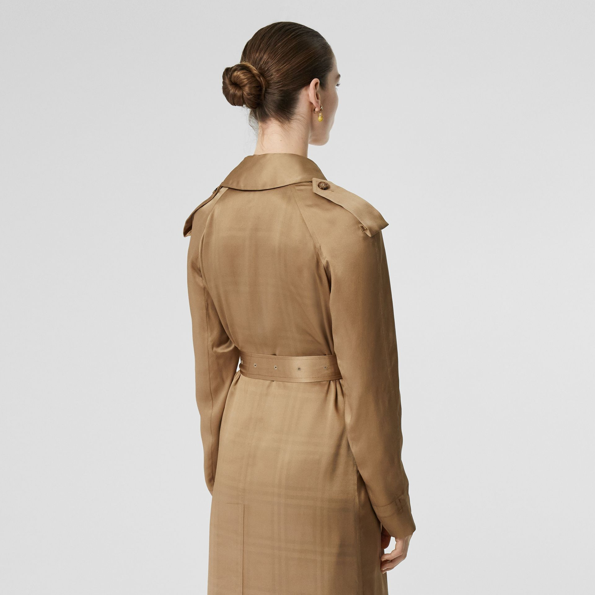 Silk Wrap Trench Coat in Honey - Women | Burberry Australia - gallery image 2