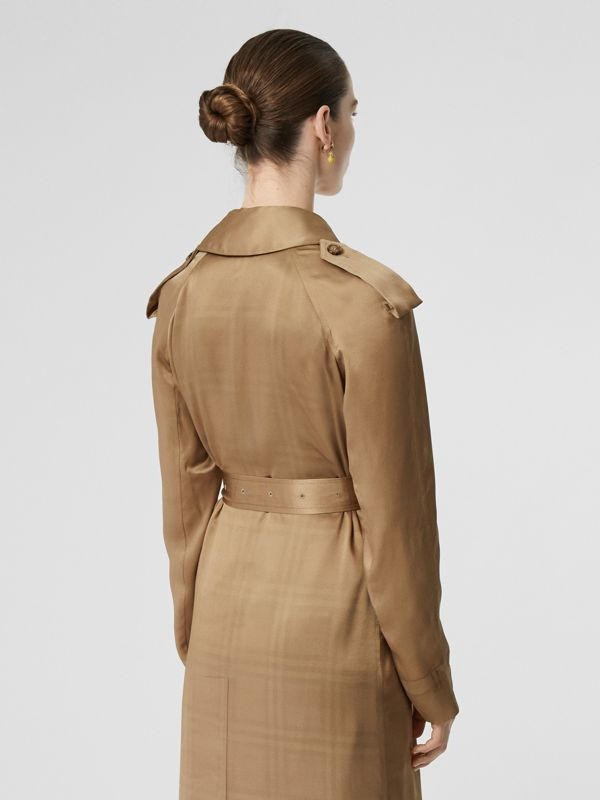 Silk Wrap Trench Coat in Honey - Women | Burberry - cell image 2