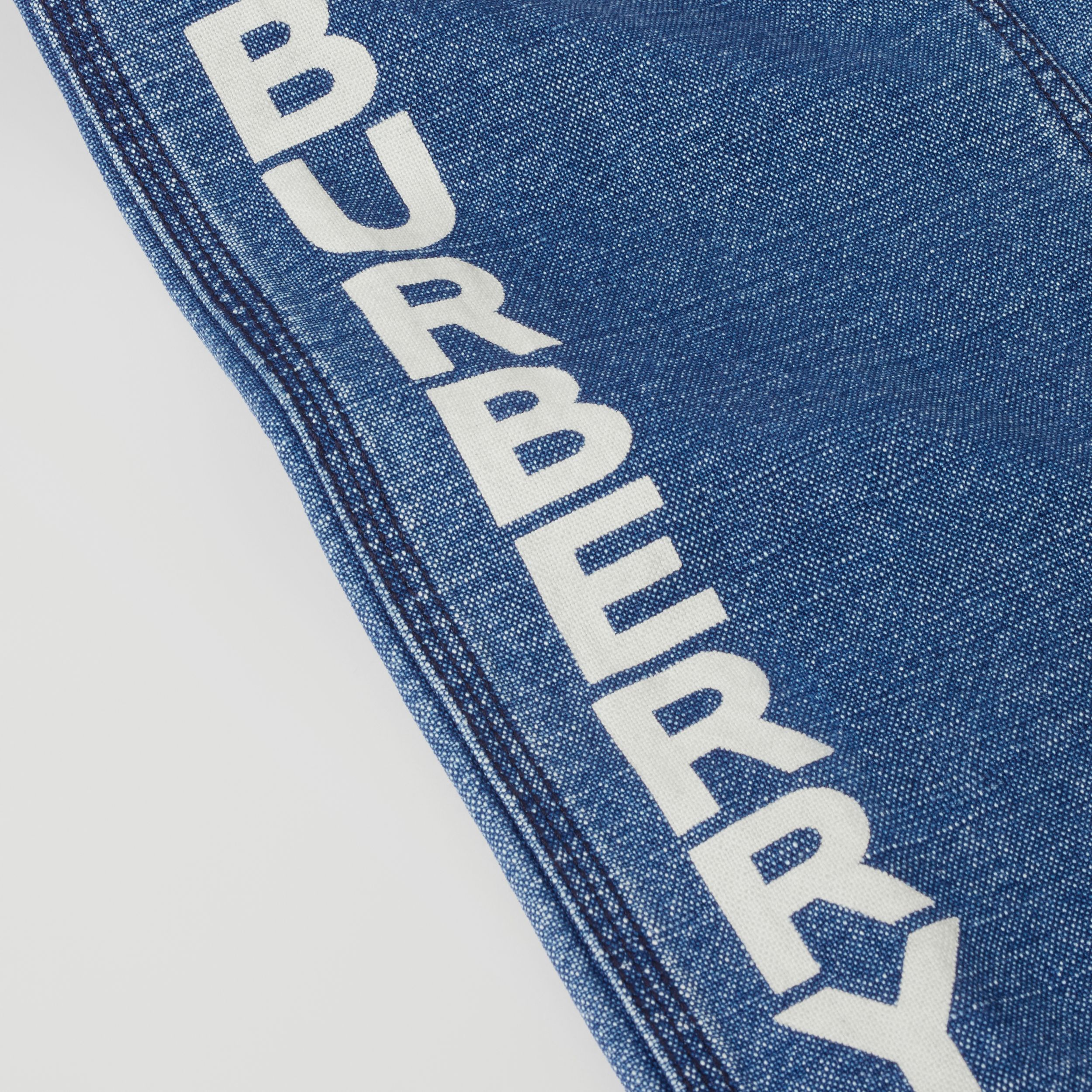 Logo Print Japanese Denim Jeans in Indigo - Girl | Burberry United Kingdom - 2