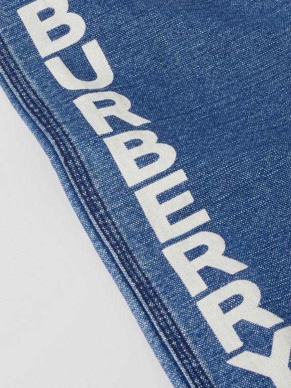 Logo Print Japanese Denim Jeans in Indigo - Girl   Burberry - cell image 1