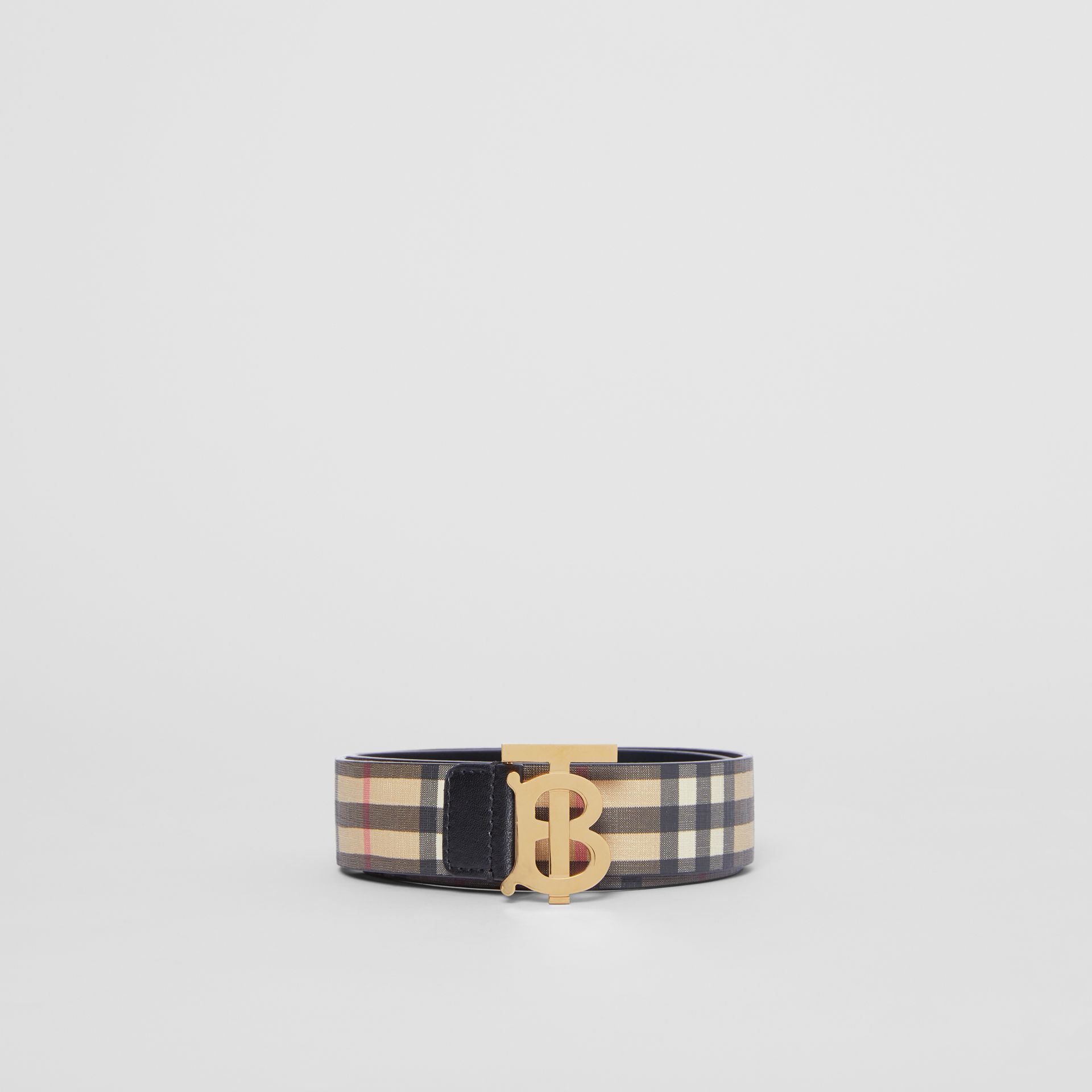 Monogram Motif Vintage Check E-canvas Belt in Archive Beige - Women | Burberry - gallery image 3