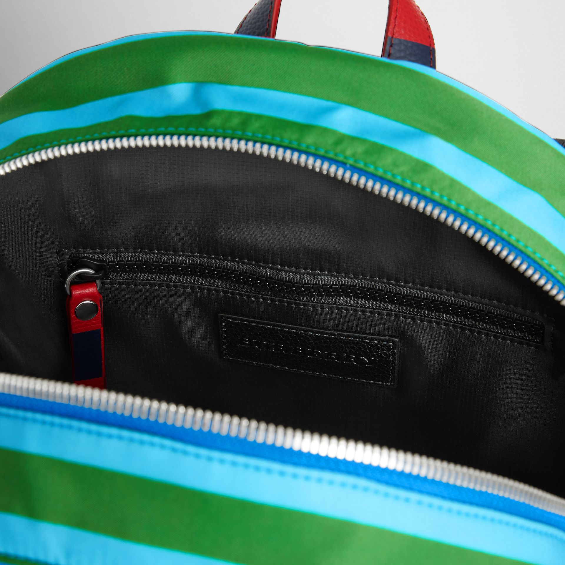 Graphic Print Nylon Backpack in Mineral Blue | Burberry Canada - gallery image 3