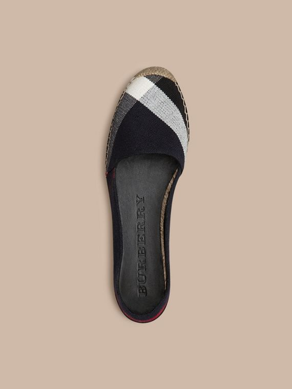 Check navy Espadrillas in cotone e juta check - cell image 2