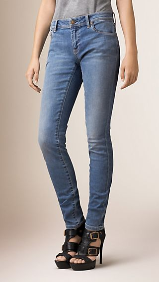 Skinny Low-Rise Vintage Wash Jeans