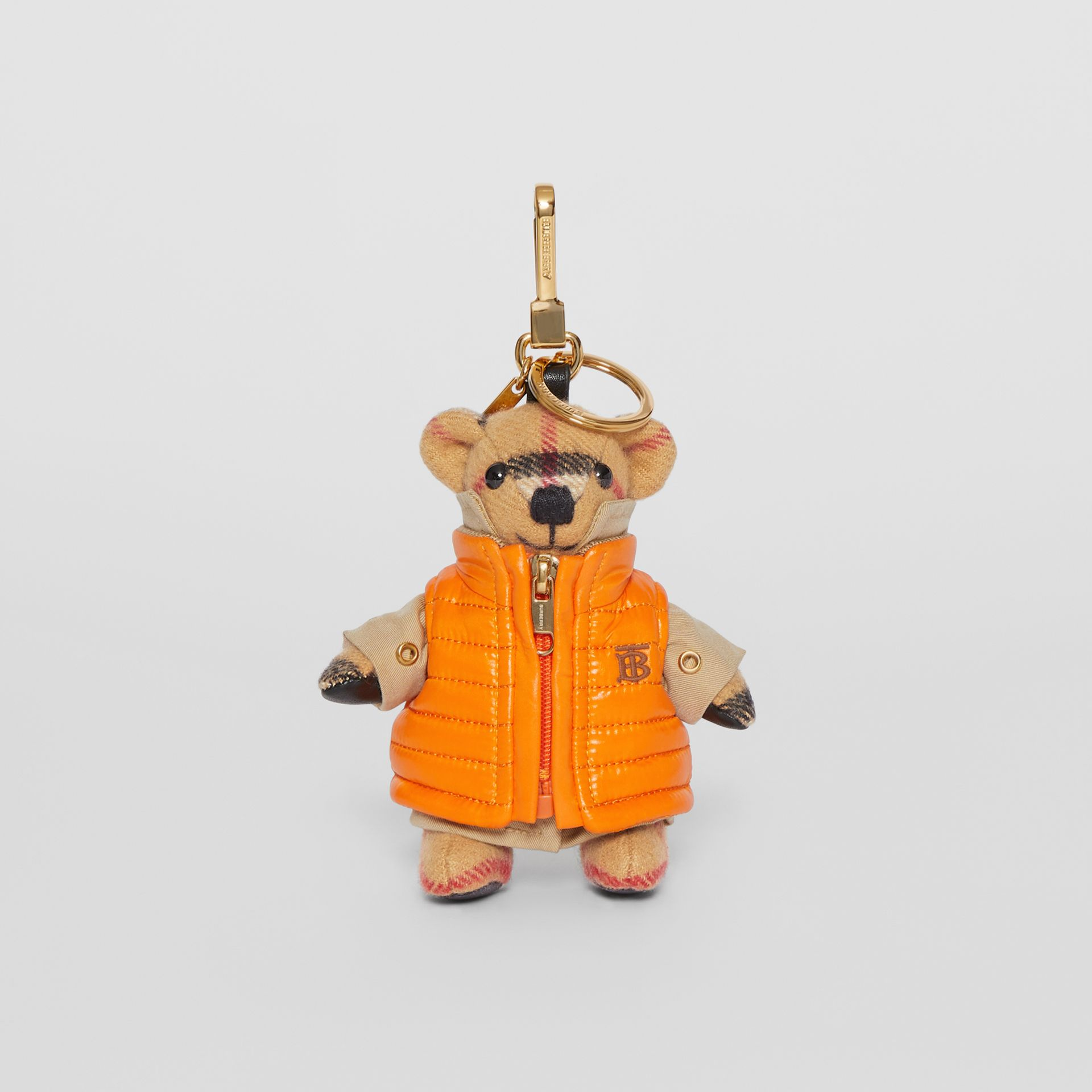 Thomas Bear Charm in Monogram Motif Gilet in Antique Yellow - Women | Burberry Australia - gallery image 2