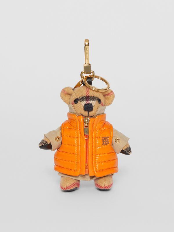 Thomas Bear Charm in Monogram Motif Gilet in Antique Yellow - Women | Burberry United Kingdom - cell image 2
