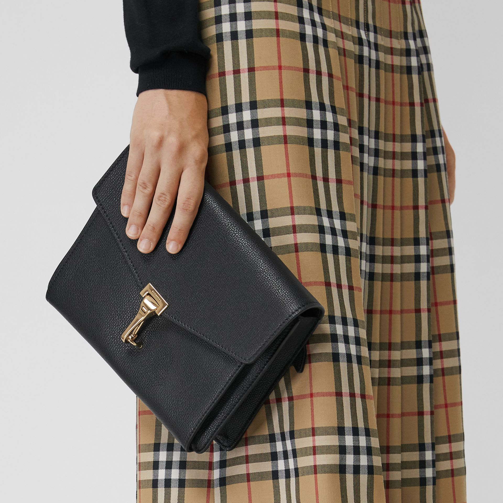 Small Leather Crossbody Bag in Black - Women | Burberry United Kingdom - gallery image 3
