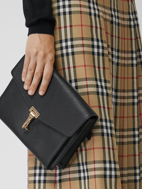 Small Leather Crossbody Bag in Black - Women | Burberry United Kingdom - cell image 3