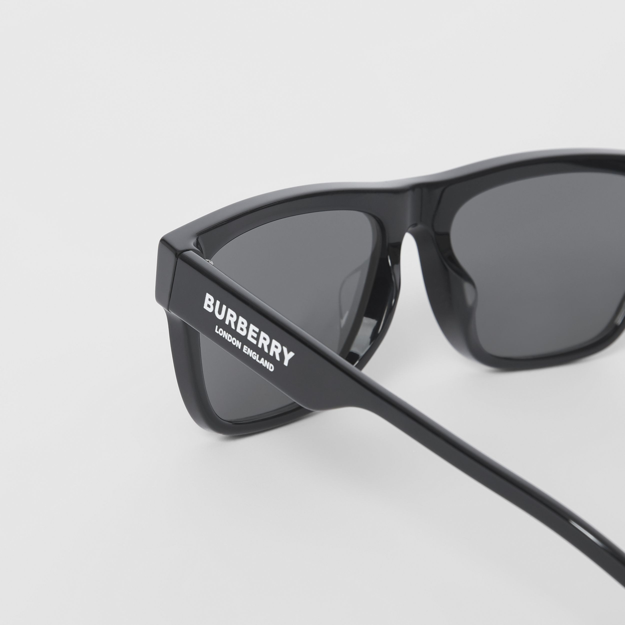 Square Frame Sunglasses in Black - Men | Burberry - 2