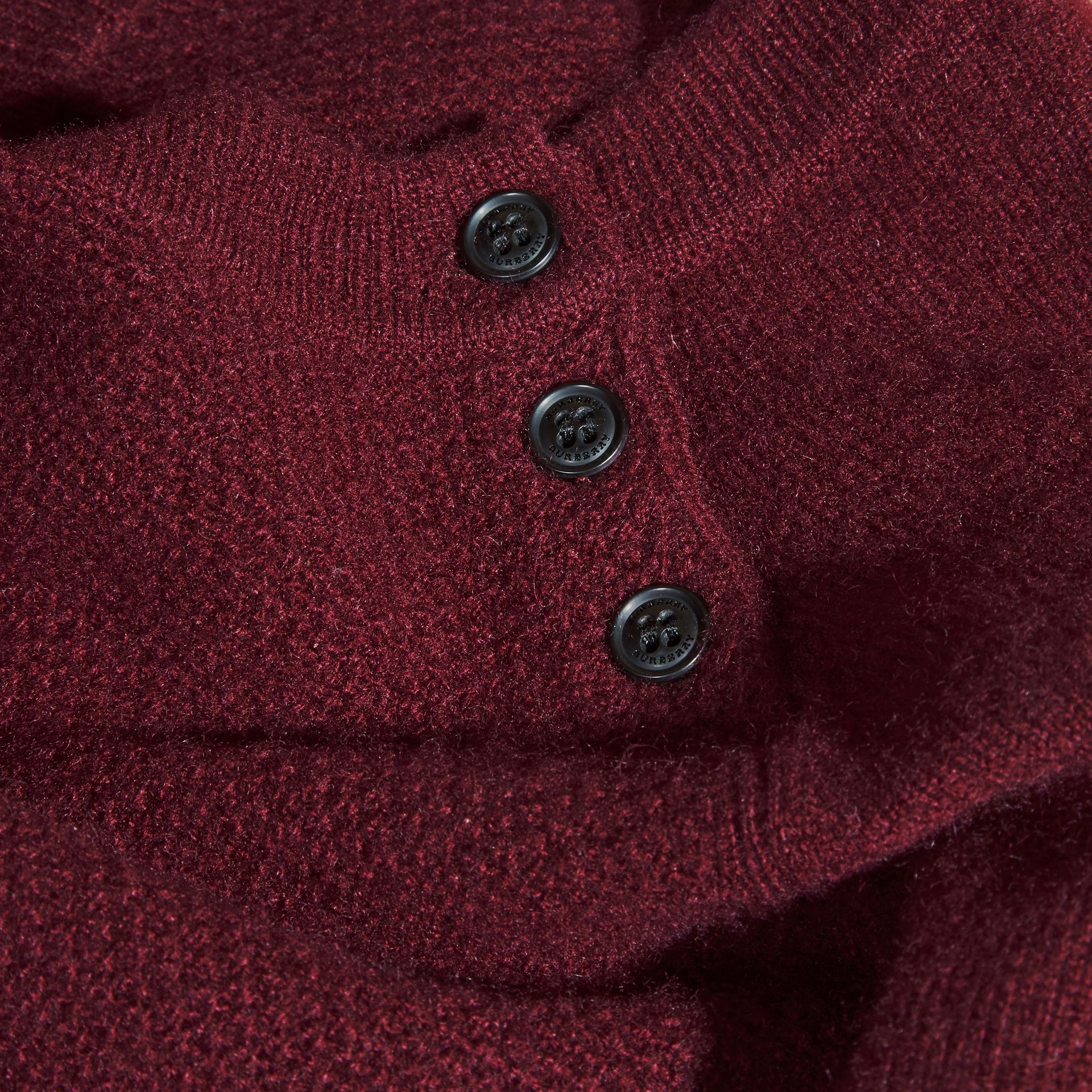 Check Detail Cashmere Dress in Mahogany Red - gallery image 2