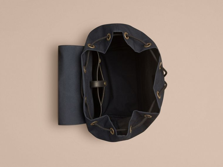 Deep navy Cotton Canvas Backpack - cell image 4