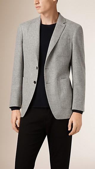Modern Fit Melange Wool Jacket