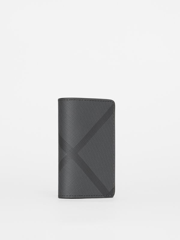 London Check and Leather Key Case in Charcoal/black - Men | Burberry - cell image 3