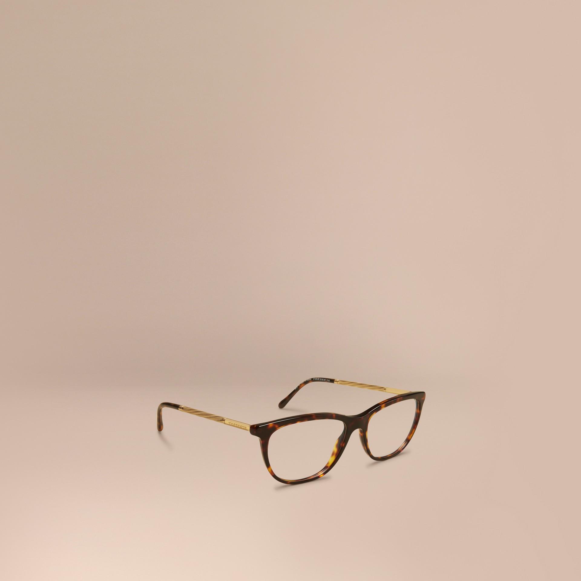 Monture œil de chat pour lunettes de vue – Collection Gabardine Écaille  Tortue - photo de la galerie 1