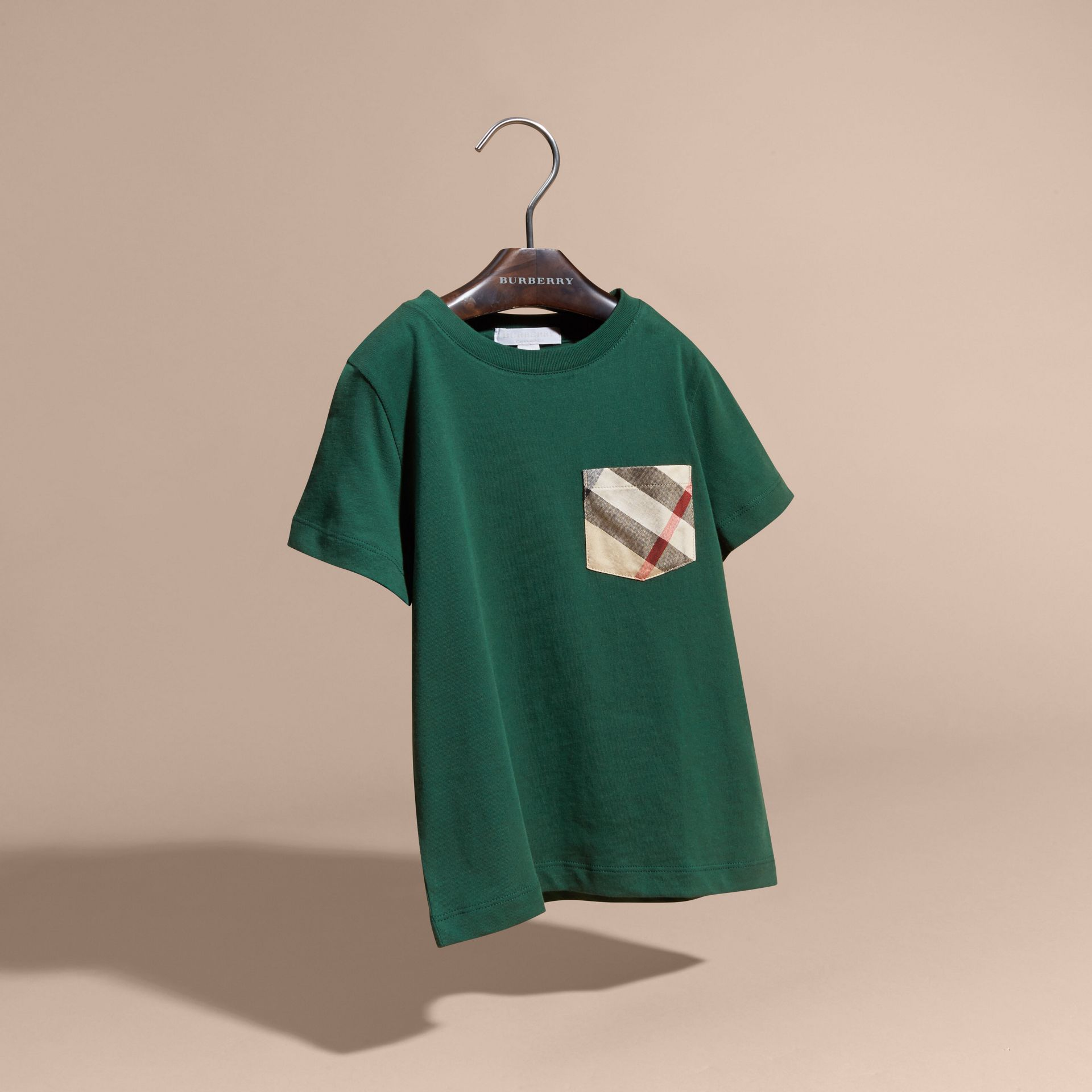 Forest green Check Pocket T-Shirt Forest Green - gallery image 3