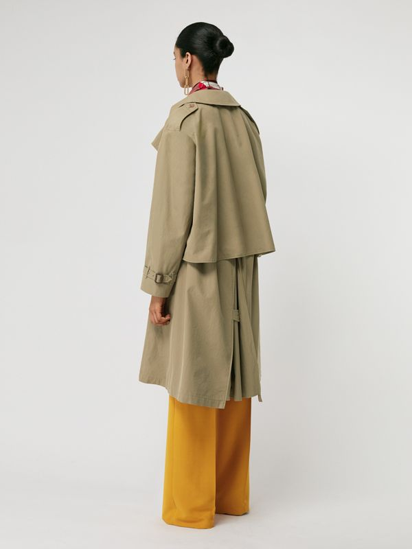 Relaxed Fit Tropical Gabardine Trench Coat in Vintage Green - Women | Burberry - cell image 2