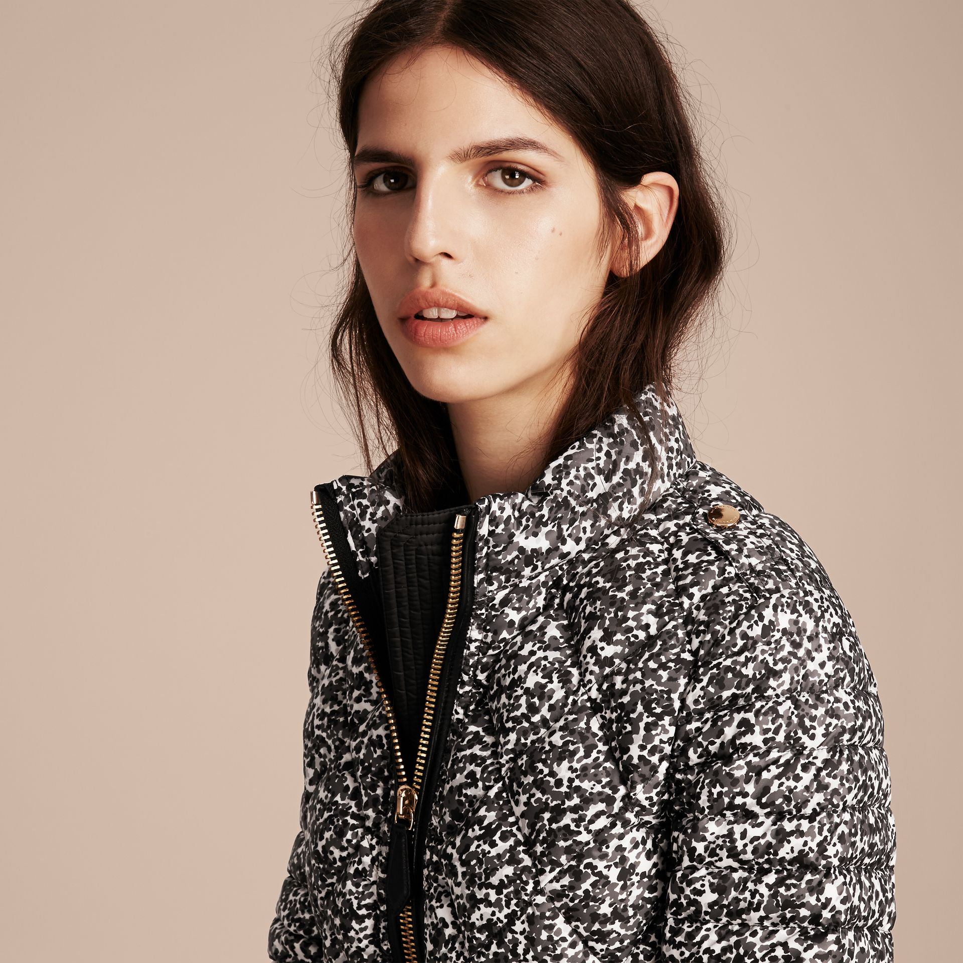 Mid grey Printed Down-filled Puffer - gallery image 5