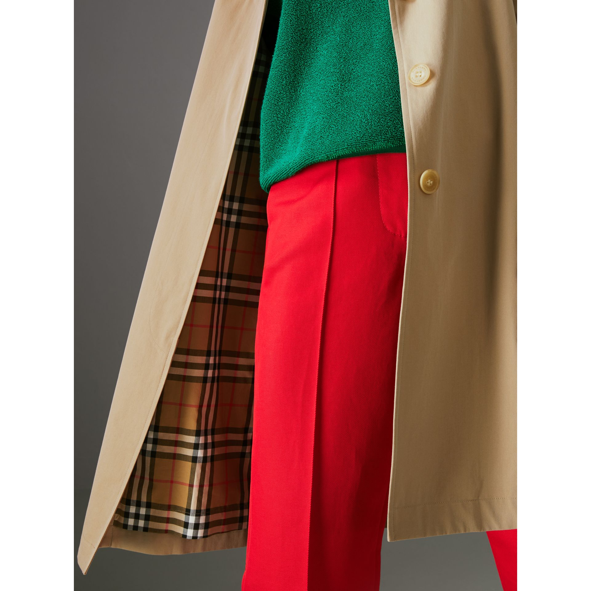 The Camden Car Coat in Honey - Women | Burberry - gallery image 1