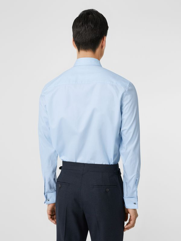 Classic Fit Monogram Motif Cotton Oxford Shirt in Pale Blue - Men | Burberry - cell image 2
