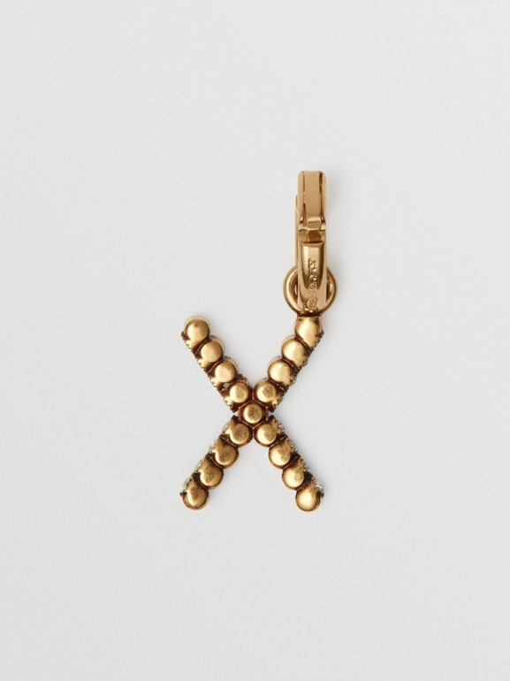 Crystal 'X' Alphabet Charm - Women | Burberry - cell image 1