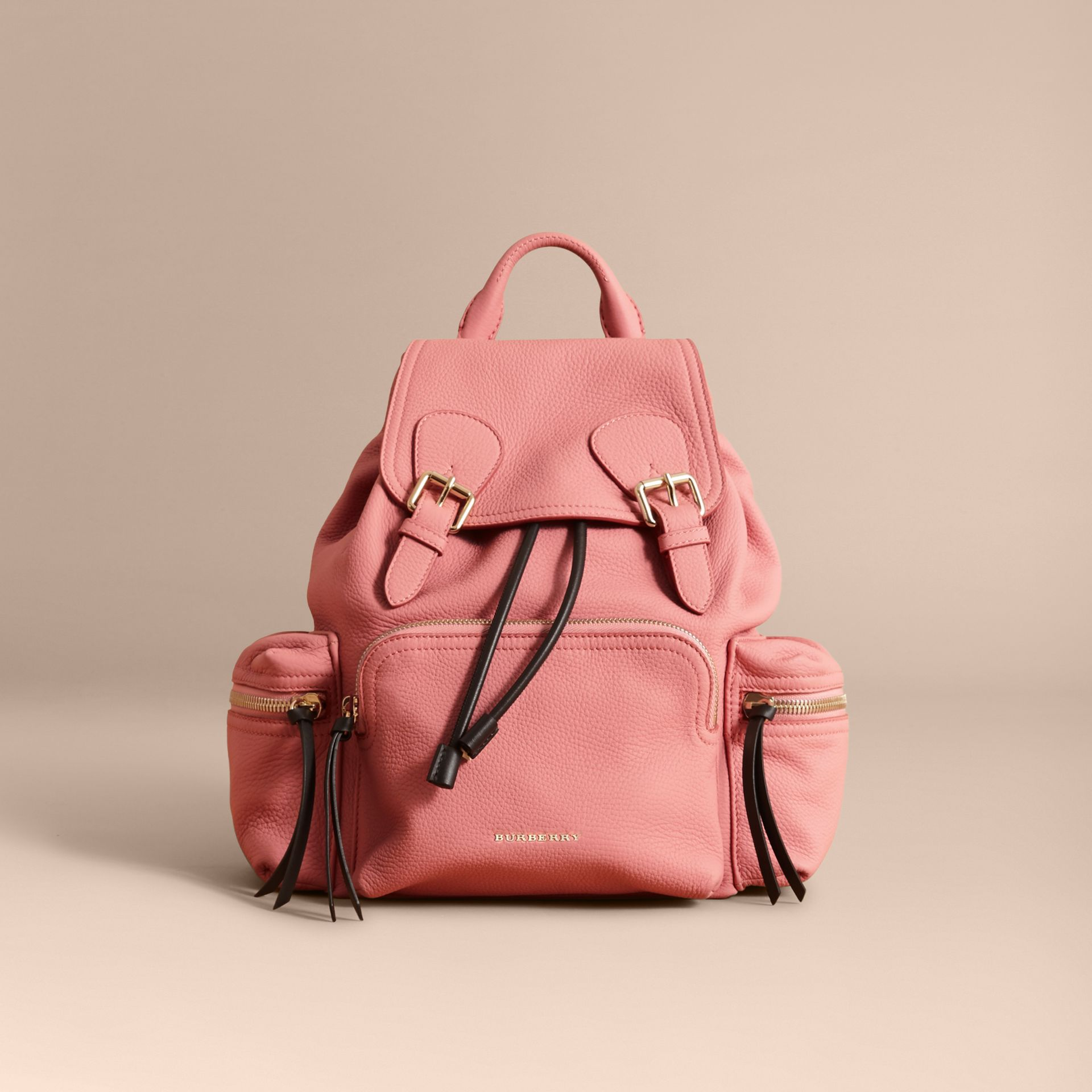 The Medium Rucksack in Deerskin with Resin Chain in Blossom Pink - Women | Burberry - gallery image 7