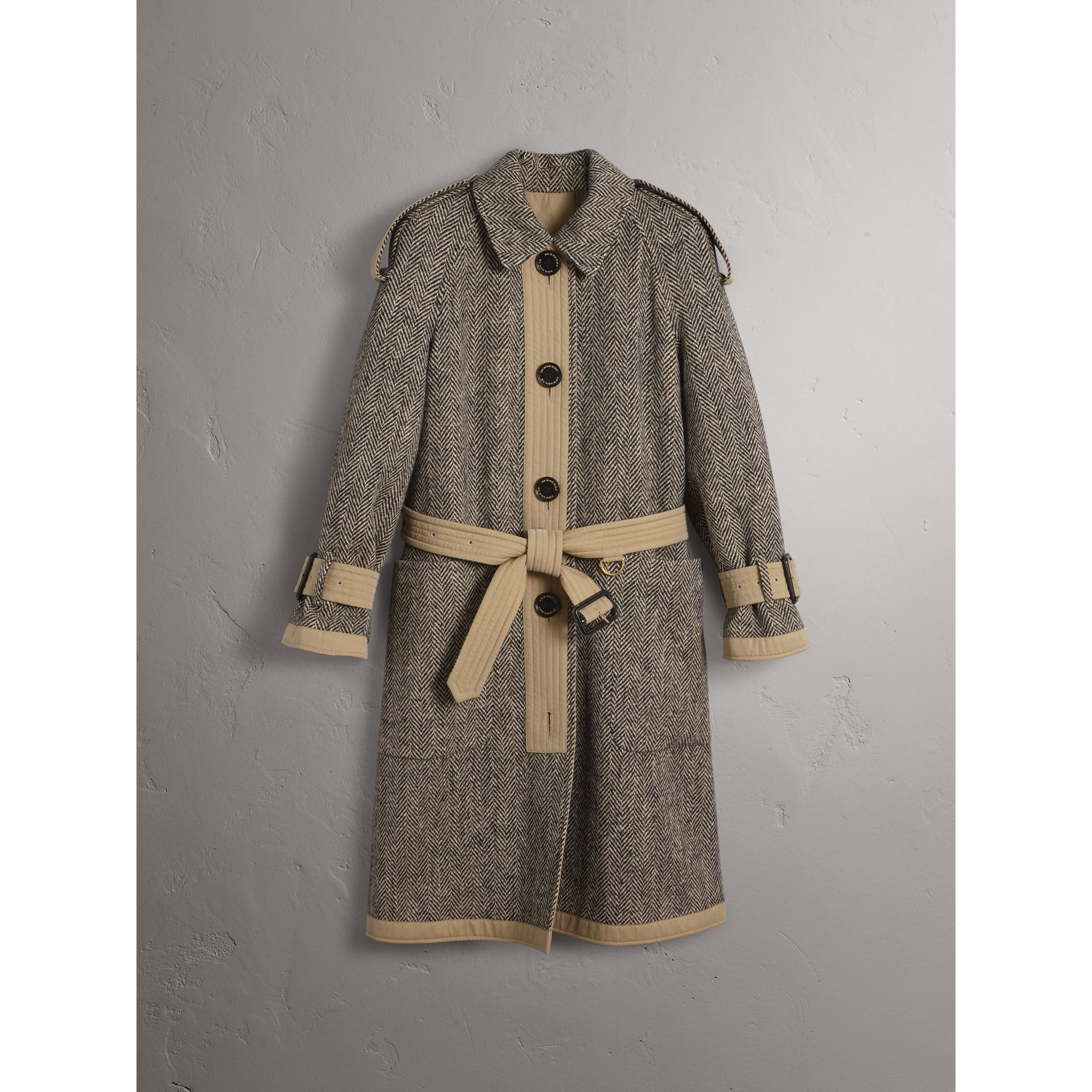 Reversible Donegal Tweed and Gabardine Trench Coat - Women | Burberry Hong Kong - gallery image 4